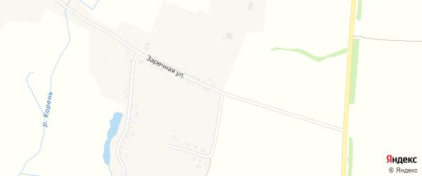 Заречная улица на карте села Кошлаково с номерами домов