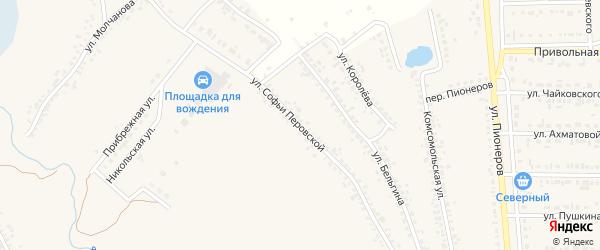 Улица С.Перовской на карте Шебекино с номерами домов