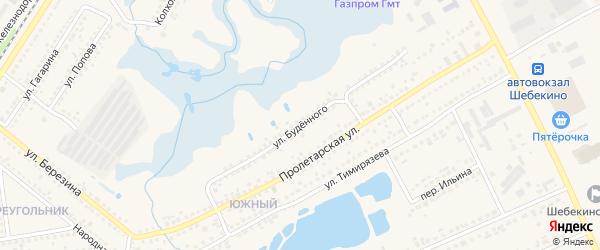 Улица Буденного на карте Шебекино с номерами домов