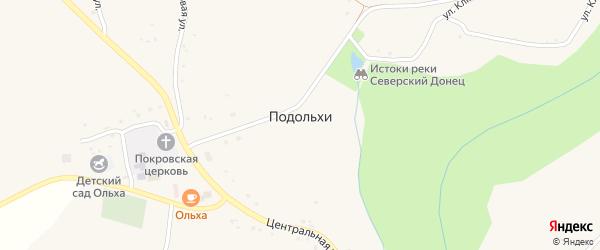Народная улица на карте села Подольхи с номерами домов