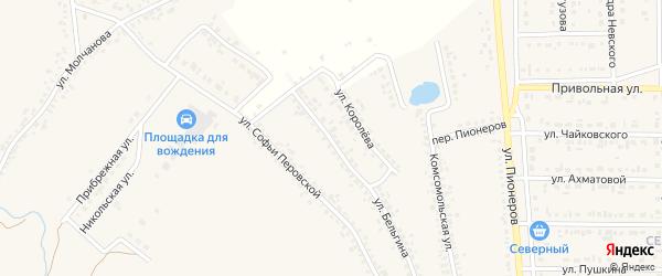 Улица Бельгина на карте Шебекино с номерами домов