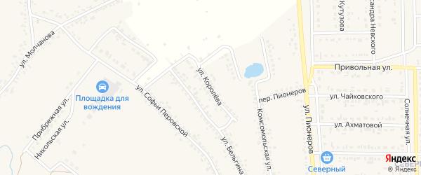 Улица Королева на карте Шебекино с номерами домов