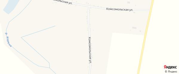 Комсомольская улица на карте Никольского села с номерами домов