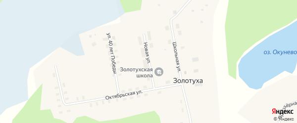 Новая улица на карте поселка Золотухи с номерами домов
