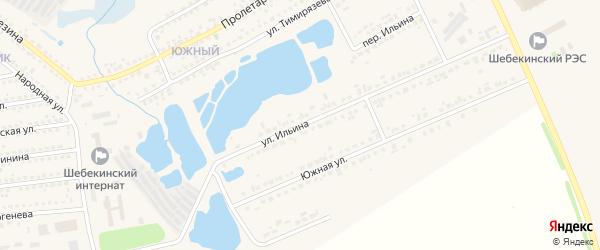 Улица Ильина на карте Шебекино с номерами домов