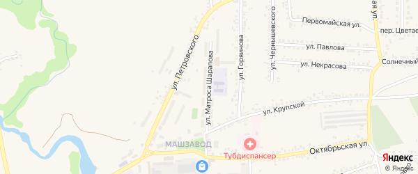 Улица Матроса Шарапова на карте Шебекино с номерами домов