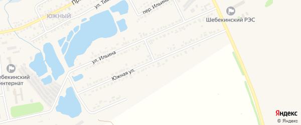 Южная улица на карте Шебекино с номерами домов