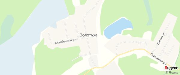 Карта поселка Золотухи в Архангельской области с улицами и номерами домов