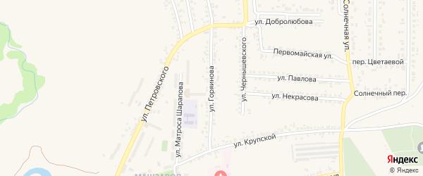 Улица Горяинова на карте Шебекино с номерами домов
