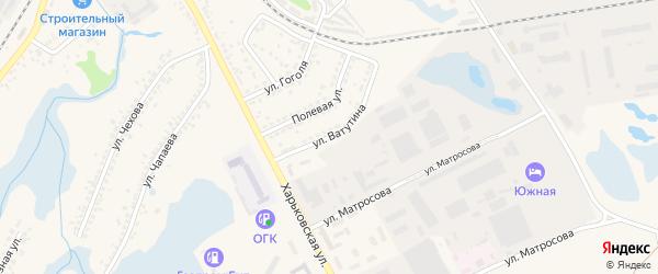 Улица Ватутина на карте Шебекино с номерами домов