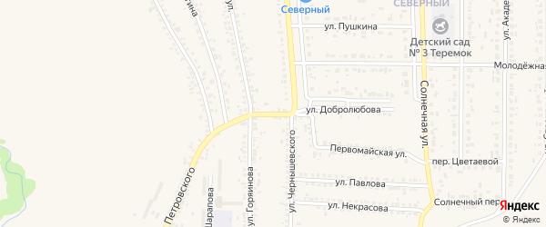 Комсомольский переулок на карте Шебекино с номерами домов