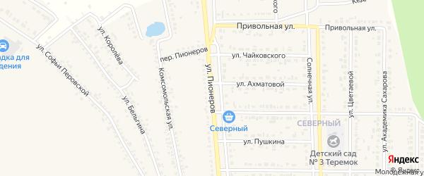 Улица Пионеров на карте Шебекино с номерами домов