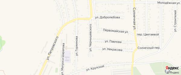 Улица Чернышевского на карте Шебекино с номерами домов