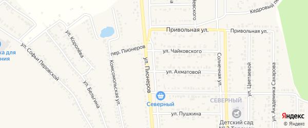 Улица 100-й стрелковой дивизии на карте Шебекино с номерами домов