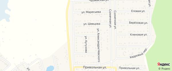 Улица Ребиндера на карте Шебекино с номерами домов