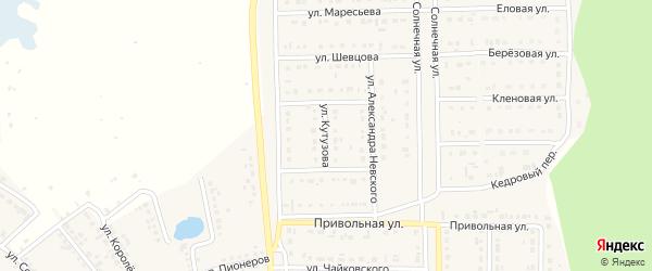 Улица Кутузова на карте Шебекино с номерами домов