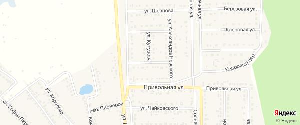 Улица Маршала Жукова на карте Шебекино с номерами домов