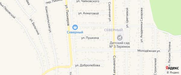 Улица Пушкина на карте Шебекино с номерами домов