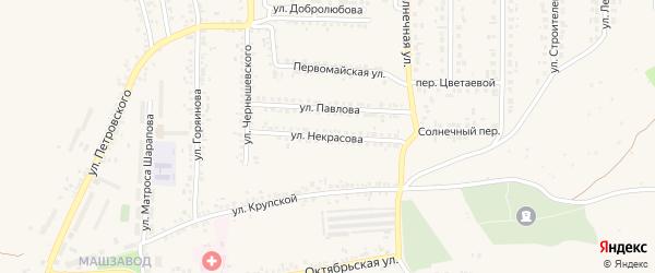Улица Некрасова на карте Шебекино с номерами домов