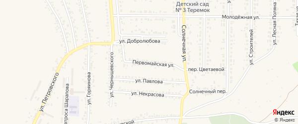 Первомайская улица на карте Шебекино с номерами домов