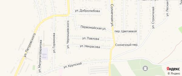 Улица Павлова на карте Шебекино с номерами домов
