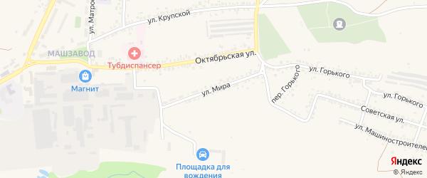 Улица Мира на карте Шебекино с номерами домов