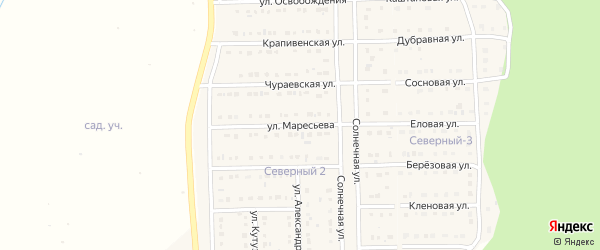 Улица Маресьева на карте Шебекино с номерами домов