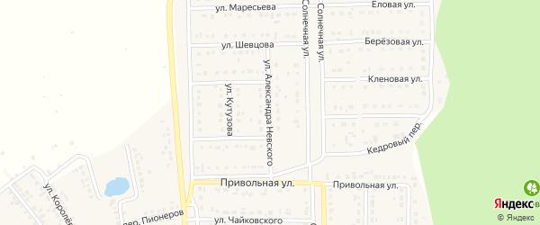 Улица Александра Невского на карте Шебекино с номерами домов