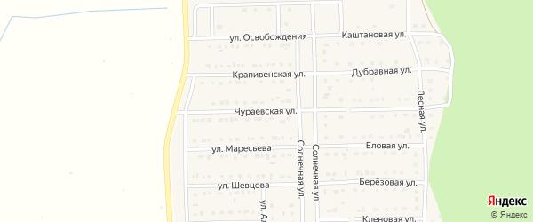 Чураевская улица на карте Шебекино с номерами домов