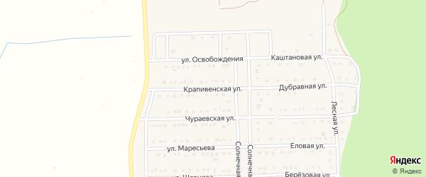 Крапивенская улица на карте Шебекино с номерами домов