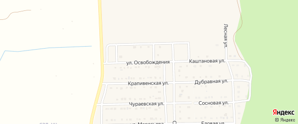 Улица Освобождения на карте Шебекино с номерами домов