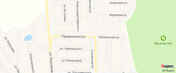 Привольная улица на карте Шебекино с номерами домов