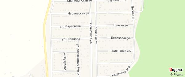 Улица А.Шевцова на карте Шебекино с номерами домов