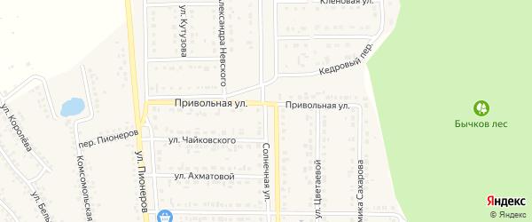 Солнечная улица на карте Шебекино с номерами домов