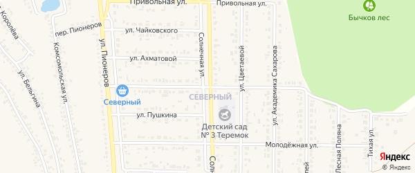 Улица Достоевского на карте Шебекино с номерами домов