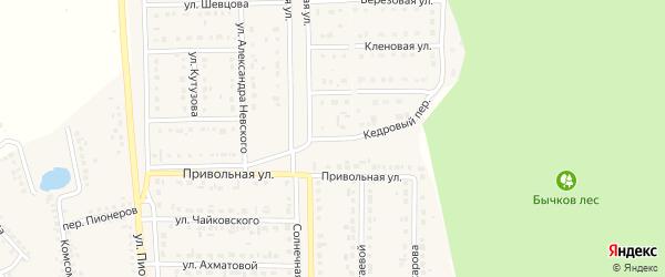 Привольный переулок на карте Шебекино с номерами домов