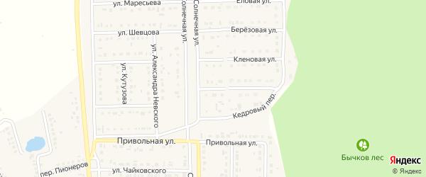 Переулок Маршала Жукова на карте Шебекино с номерами домов