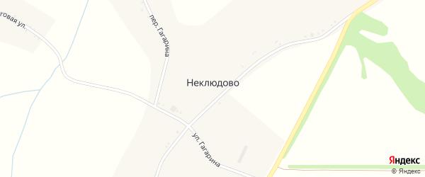 Переулок Гагарина на карте села Неклюдово с номерами домов