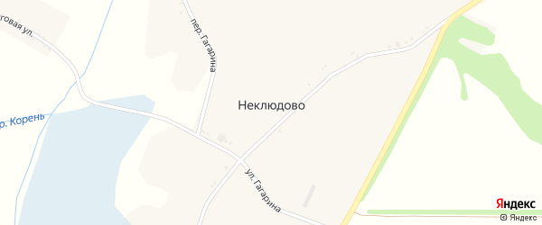 Советская улица на карте села Неклюдово с номерами домов