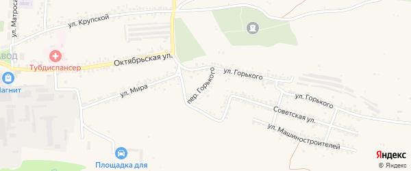 Переулок М.Горького на карте Шебекино с номерами домов