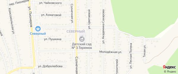 Улица Цветаевой на карте Шебекино с номерами домов