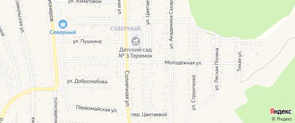 Молодежная улица на карте Шебекино с номерами домов