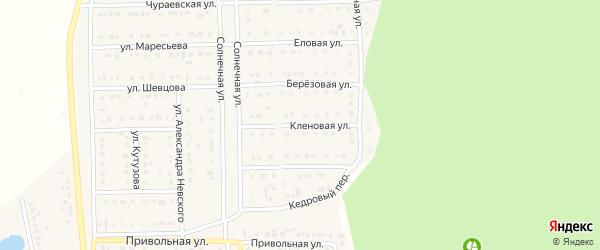 Переулок Александра Невского на карте Шебекино с номерами домов