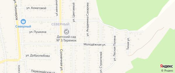Улица Академика Сахарова на карте Шебекино с номерами домов