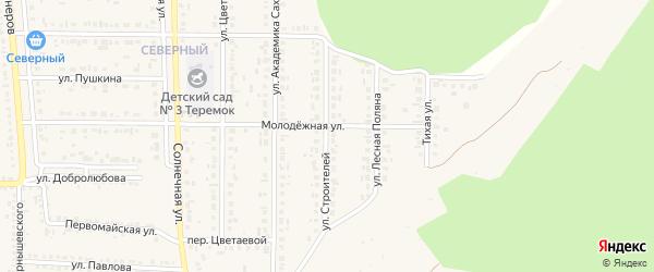Улица Строителей на карте Шебекино с номерами домов