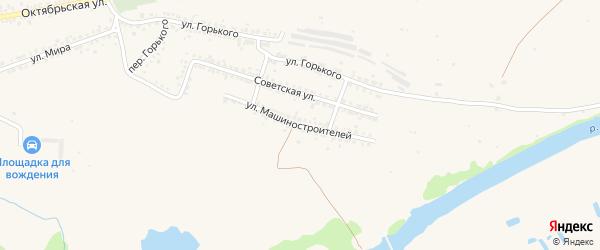 Улица Машиностроителей на карте Шебекино с номерами домов