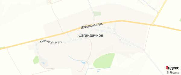 Карта Сагайдачного села в Белгородской области с улицами и номерами домов