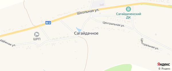 Центральная улица на карте Сагайдачного села с номерами домов