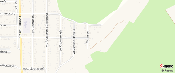 Тихая улица на карте Шебекино с номерами домов