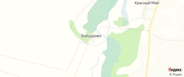 Карта хутора Байцурово в Белгородской области с улицами и номерами домов